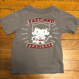 Fast and Fearless toddler tee